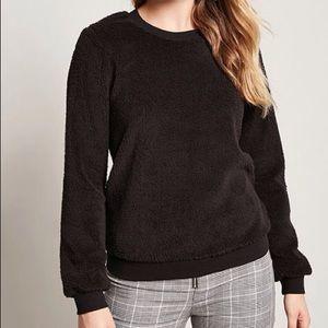 New Faux Shearling Sweatshirt